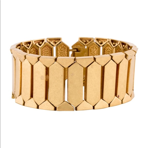 India Hicks Golden Scales Link Bracelet
